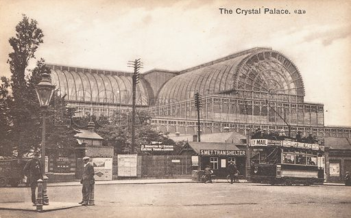 The Crystal Palace in London.