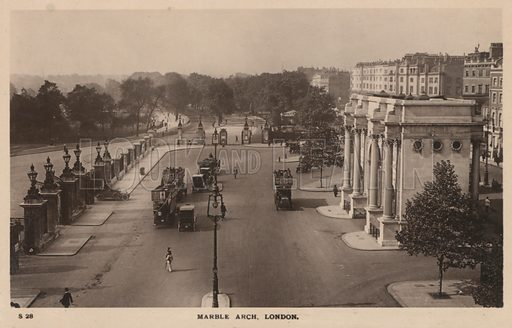 Marble Arch in Hyde Park, London.