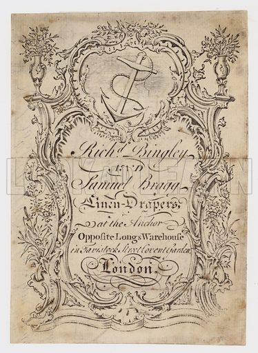 Linen Draper, Bingley & Bragg, trade card
