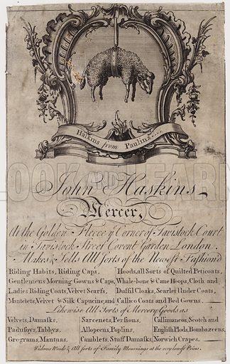 Mercer, John Haskins, trade card