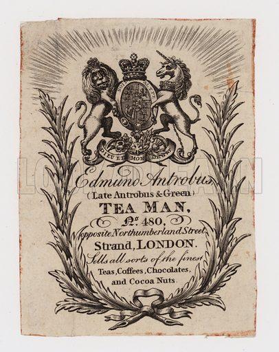Tea Man, Edmund Antrobus, trade card.