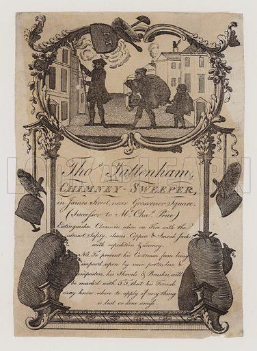 Chimney Sweeps, Thomas Tattenham, trade card