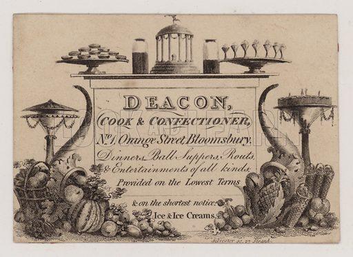 Cook & Confectioner, Deacon, trade card