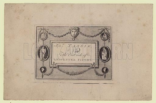 Gem and Seal Modeller, James Tassie, trade card