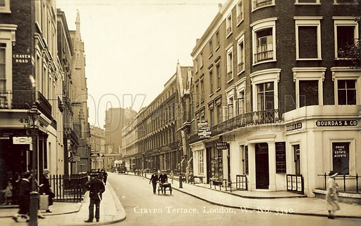 Craven Terrace, London W Postcard, early 20th century.