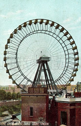 The Great Wheel, Earls Court, London. Postcard, early 20th century.