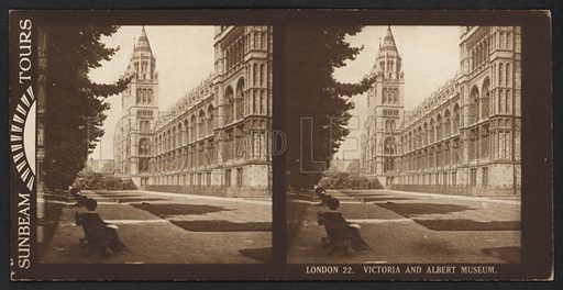 London, Victoria and Albert Museum. Stereographic photograph, very early 20th century.