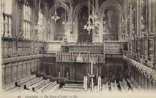 London, The House Of Lords. Postcard, early 20th century.
