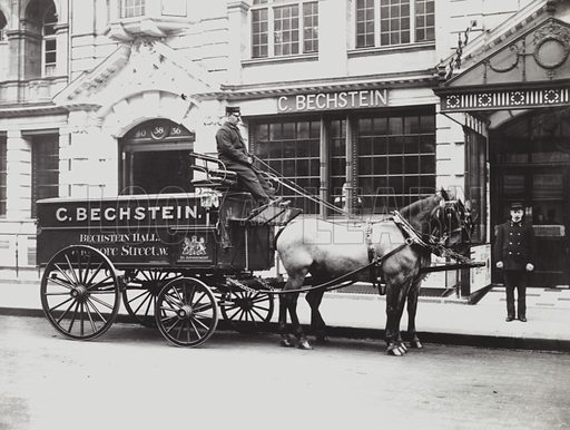The Bechstein (now Wigmore) Hall, Wigmore Street, London W1.  Early 20th century photograph.