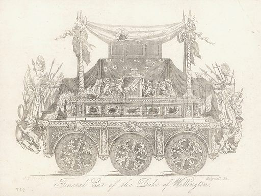 Funeral Car of the Duke of Wellington, 1852.