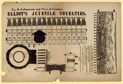 Colosseum and View of London.  Paper novelty.