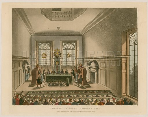 Lottery Drawing: Coopers Hall. 1809.