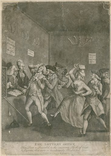 The Lottery Office. 1777.