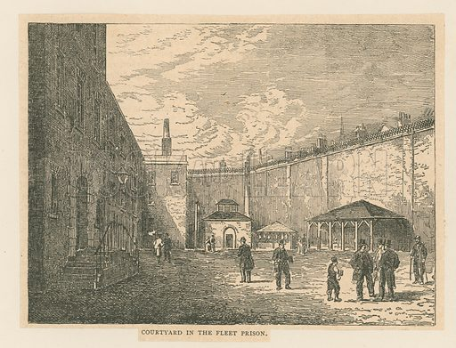 Courtyard in the Fleet Prison.