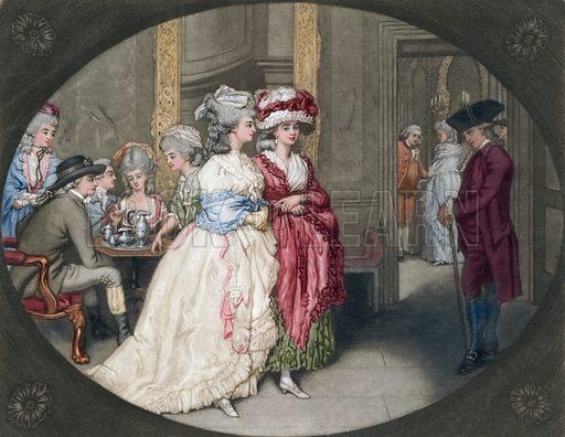 The Promenade at Carlisle House, Soho Square. 1781. Mezzotint.