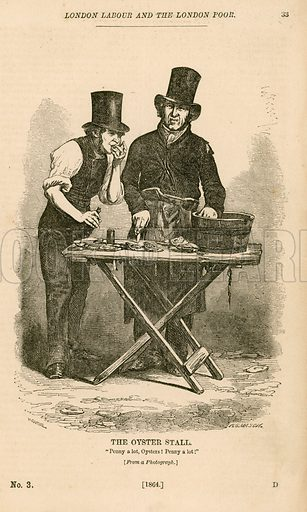 The Oyster Stall from London Labour and the London Poor