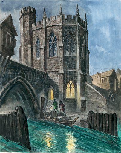 Chapel on London Bridge, picture, image, illustration