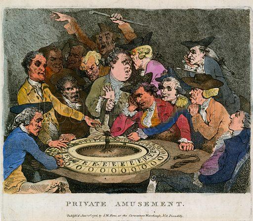 Private amusement. Gambling.