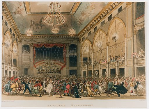 Pantheon Masquerade in 1809. From Ackerman's Microcosm.