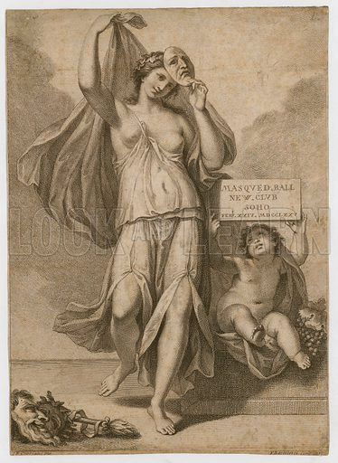Invitation to a masked ball in Soho in 1775.
