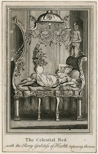 The Celestial Bed, with the Rosy Goddess of Health reposing thereon.