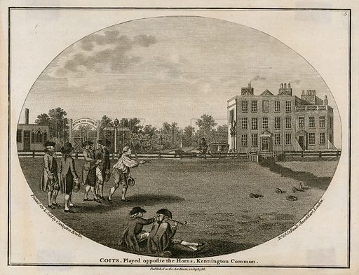 Quoits in 1788, played opposite the Horns, Kennington Common.