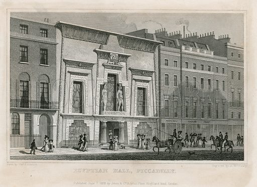 The Egyptian Hall, Piccadilly. Published 1828.