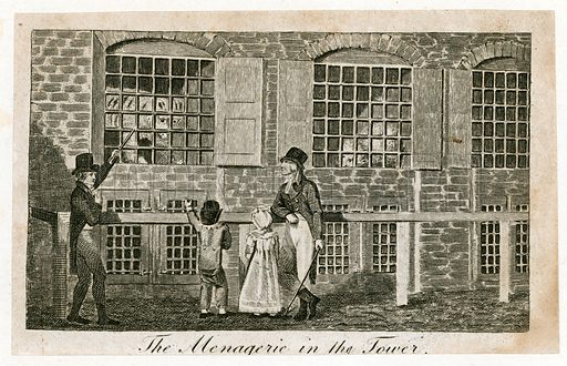 The menagerie in the Tower of London about 1820.
