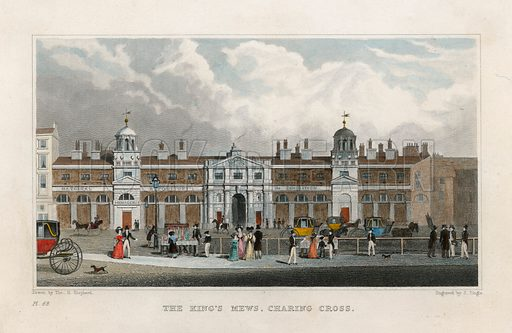 The Kings Mews, Charing Cross. Temporary home of Edward Cross's Menagerie.