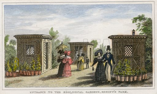 Entrance to the zoological gardens, Regent's Park.