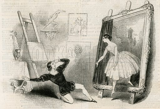 The delirium of a painter. From the Illustrated London News, 12 August 1843.