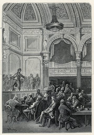 Evans's Song and Supper Rooms. From Dore's London, 1872.