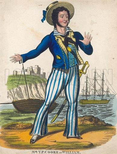 TP Cooke as the sailor hero of Black Eyed Susan.