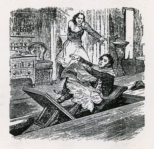 A String of Pearls or The Friend of Fleet Street (1847), Britannia, Hoxton. Sweeney Todd.
