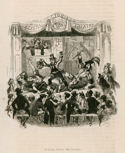 Melodrama at the Royal Victoria Theatre.