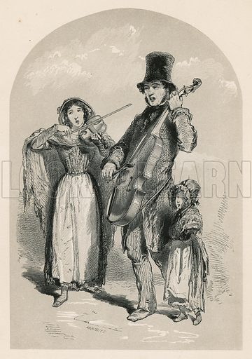 Music in the street, 1849.