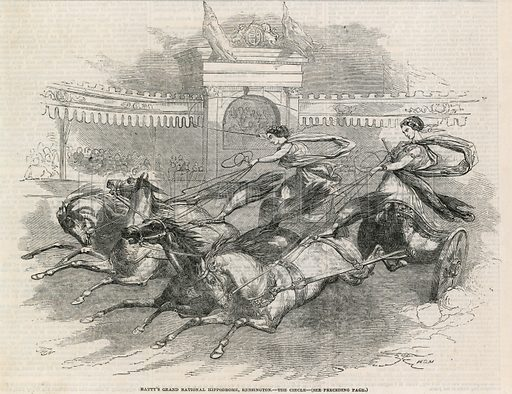 Batty's Grand National Hippodrome, Kensington – The Circle. Dated 10 May 1851. Probably Illustrated London News.