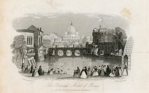 The Pictorial Model of Rome and the Surrey Zoological Gardens. From the Mirror of Literature, 1 September 1841.