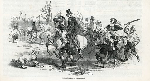 Easter Monday on Blackheath. From the Illustrated London News 3 April 1847.