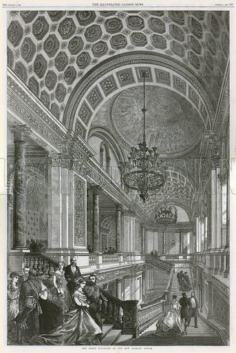 The Grand Staircase at the New Foreign Office. From the Illustrated London News, 1 August 1868.