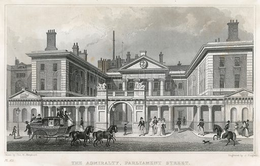 Admiralty. After the Adam Screen has been added. Published 1829.