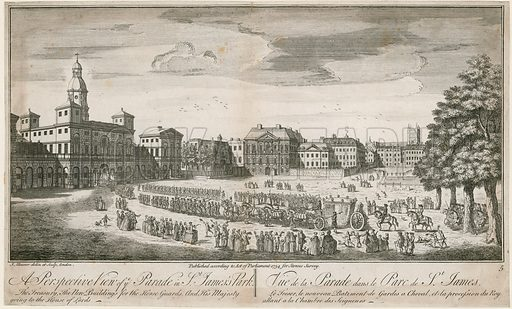 Horse Guards. Published 1754.