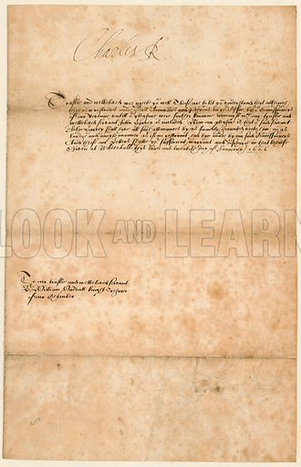 Autograph of king Charles I, dated 23 January 1626.