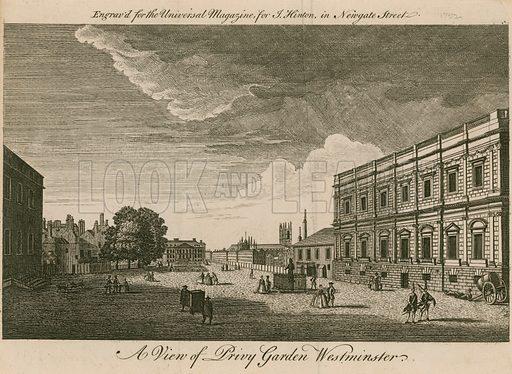 Privy Garden Westminster. Published 1752.