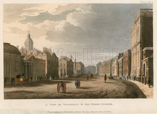 Parliament Street. Published 1811.