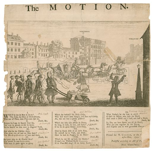The Motion. Published 1741.