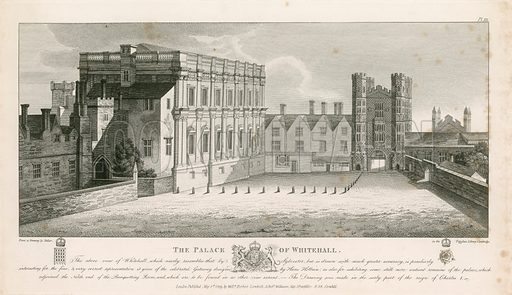 Whitehall. From a drawing done early in the reign of king Charles I.