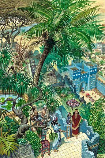 Hanging Gardens Babylon.  Original artwork.