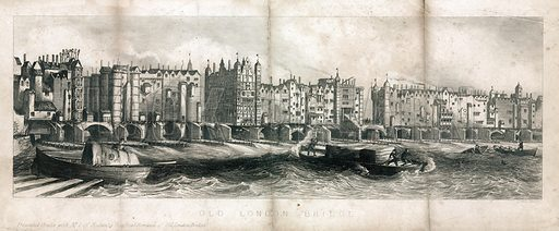 Old London Bridge. Presented gratis with No 1 of Rodwell's Historical Romance of Old London Bridge.