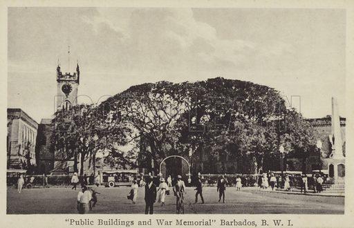 Public Buildings, War Memorial, Barbados.